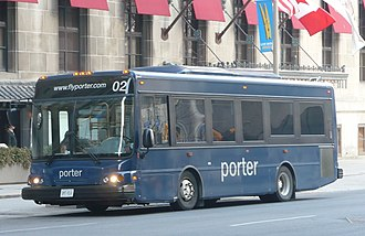 Porter Airlines - Shuttle service (using Blue Bird Corporation Ultra LF) runs every 15 minutes from the Royal York Hotel