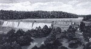 Anderson, South Carolina - Portman Shoals Power Plant around 1920.