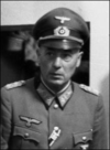 A man wearing a military uniform and peaked cap.