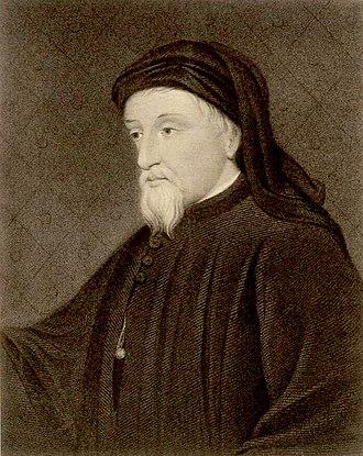 Geoffrey Chaucer - Portrait of Chaucer (19th century)
