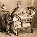Portrait of a rich, upper class, elderly Indian lady by Lala Deen Dayal.jpg