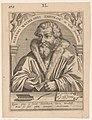 Portret van Johannes Mathesius Joannes Mathesius theolog' in Valle Joachimica (titel op object) Serie portretten van vijftiende- en zestiende-eeuwse geleerden (serietitel), RP-P-1917-729.jpg