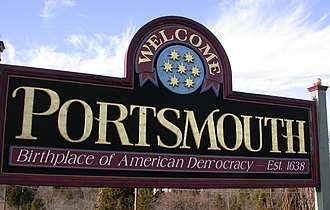 Portsmouth, Rhode Island - Portsmouth welcome sign