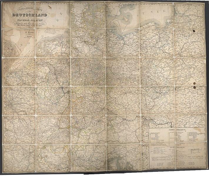 File Post Reise Karte Von Deutschland Und Den Nachbar Staaten