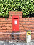 Post box on corner of Victoria and Clinton Road, Penarth, July 2018 (2).jpg