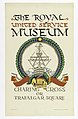 Poster, The Royal United Service Museum, for London Underground, 1921 (CH 18447459).jpg