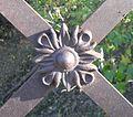 Prairie Dog Golf Course lattice truss bridge flower 1.JPG