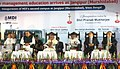 Pranab Mukherjee at the inauguration of the campus of MDI, at Murshidabad, in West Bengal. The Union Minister for Finance, Corporate Affairs and Defence, Shri Arun Jaitley.jpg