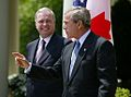 President George W. Bush and Canadian Prime Minister Paul Martin 2004.jpg
