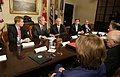President George W. Bush meets with seven of the nation's governors in the Roosevelt Room.jpg