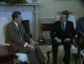 President Reagan and Prime Minister Soares of Portugal in the Oval Office 1984-03-14.png