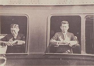 Pridi Banomyong - Pridi Banomyomg (right) at Europe in 1935