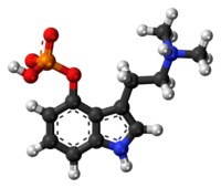 Spacefill model of canonical psilocybin