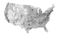 Public Roads of the contiguous United States, from the 2018 TIGER GIS dataset.png