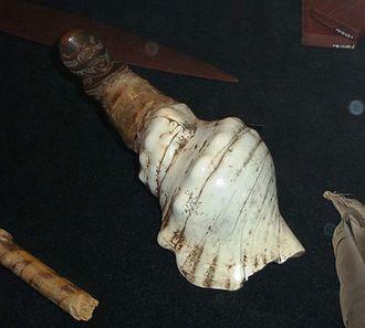 Conch (instrument) - New Zealand: pūtātara, in Te Papa