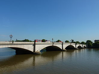 The Boat Race 1840 - Putney Bridge marked the finish of the 1840 Boat Race.