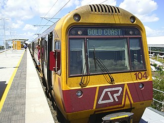 Airport railway line, Brisbane - Image: QRIMU04airdom