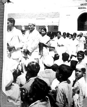 Quit India Movement - Picketing in front of Medical School at Bengaluru