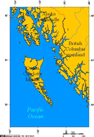 Queen Charlotte Islands, off the coast of Brit...