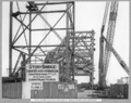 Queensland State Archives 3632 Main bridge erection erection of north anchor arm completed Brisbane 5 April 1938.png