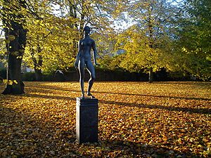 City Hall Park, Aarhus - Sculptures adorn the City Hall Park.