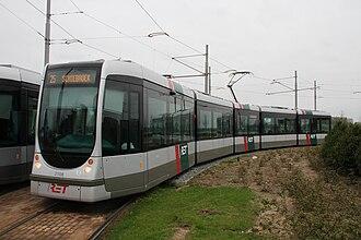 Barendrecht - RET tram line 25 at its southern terminus of Carnisselande