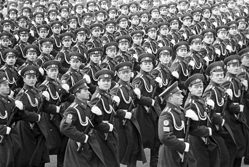 Архив РИАН 700215 Курсанты КГБ Московской высшей пограничной гвардейской Командное Училище