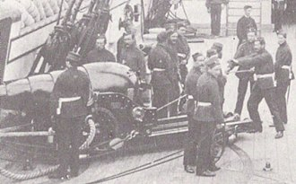 RML 7 inch gun - Image: RML 7 inch gun and crew HMS Minotaur
