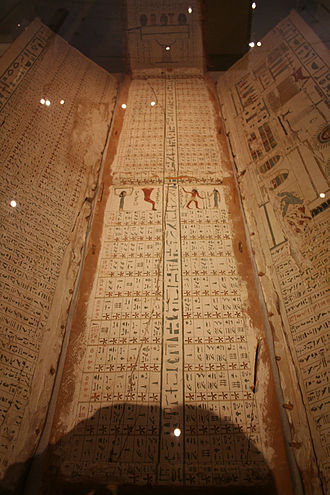 Egyptian chronology - 'Diagonal star table' from the Eleventh Dynasty coffin lid; found at Asyut, Egypt. Roemer- und Pelizaeus-Museum Hildesheim