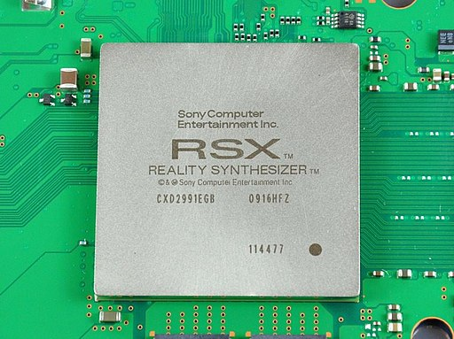 The RSX 'Reality Synthesizer' on a PlayStation 3 motherboard RSX 'Reality Synthesizer'.jpg