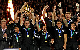 RWC 2011 final FRA - NZL McCaw with Ellis Cup.jpg