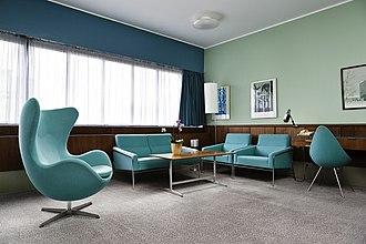 Radisson Blu - Room 606 at the Radisson Blu Royal Hotel in Copenhagen, designed by Arne Jacobsen