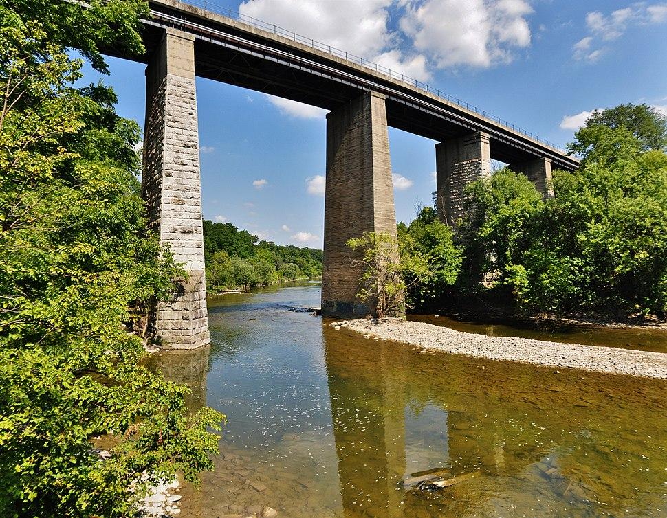 Railway Bridge over the Humber River in Toronto