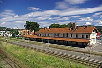 Railway Station in Sanok (Poland, July 2010).jpg