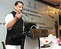 Rajiv Pratap Rudy addressing the gathering at the Strategic partnership for Skill Development in the Aviation Sector, in New Delhi.jpg