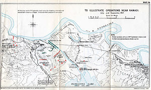 Battles of Ramadi (1917) - Map of the battles of Ramadi