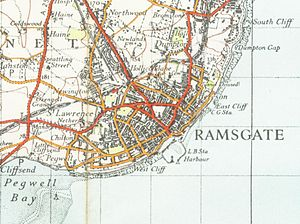 Ramsgate - A map of Ramsgate from 1945