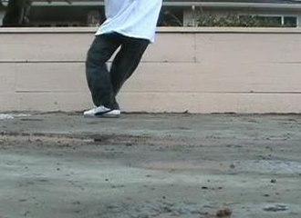 "Crip Walk - An example of the ""V Stepback"" Crip Walk move"