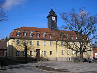 Blankenhain Place in Thuringia, Germany