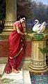 Ravi Varma-Princess Damayanthi talking with Royal Swan about Nala.jpg