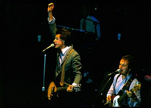Jim Rodford - Rodford performing in Mannheim, Germany in 1979 with The Kinks. Ray Davies (L) and Rodford