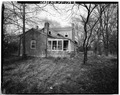 Rear view, taken from the west - Jacob Johnson House, 7300 Bardstown Road, Louisville, Jefferson County, KY HABS KY,56-LOUVI,31-6.tif