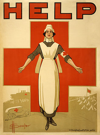 Nursing - A recruiting poster for Australian nurses from World War I.