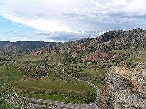 Red Rocks Park - Red Rocks area from Dakota Ridge