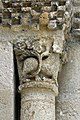 Reich geschmückt, die romanische Apsis (12. Jahrhundert) der Kirche Saint-Vivien-de-Medoc. 4.jpg
