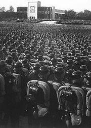 German troops at the 1935 Nuremberg Rally.