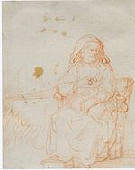 Rembrandt Seated Old Woman, Full Length.jpg
