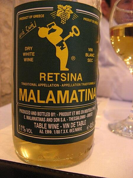 File:Retsina wine bottle.jpg
