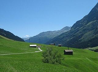 Rheinwald valley in Graubünden, Switzerland