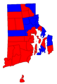 Rhode Island Senatorial Election Results by municipality, 2006.png